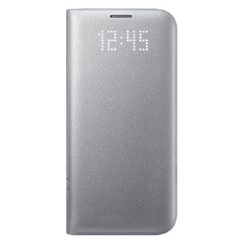 Samsung LED View Cover Case Original for Galaxy S7 Edge - Silver
