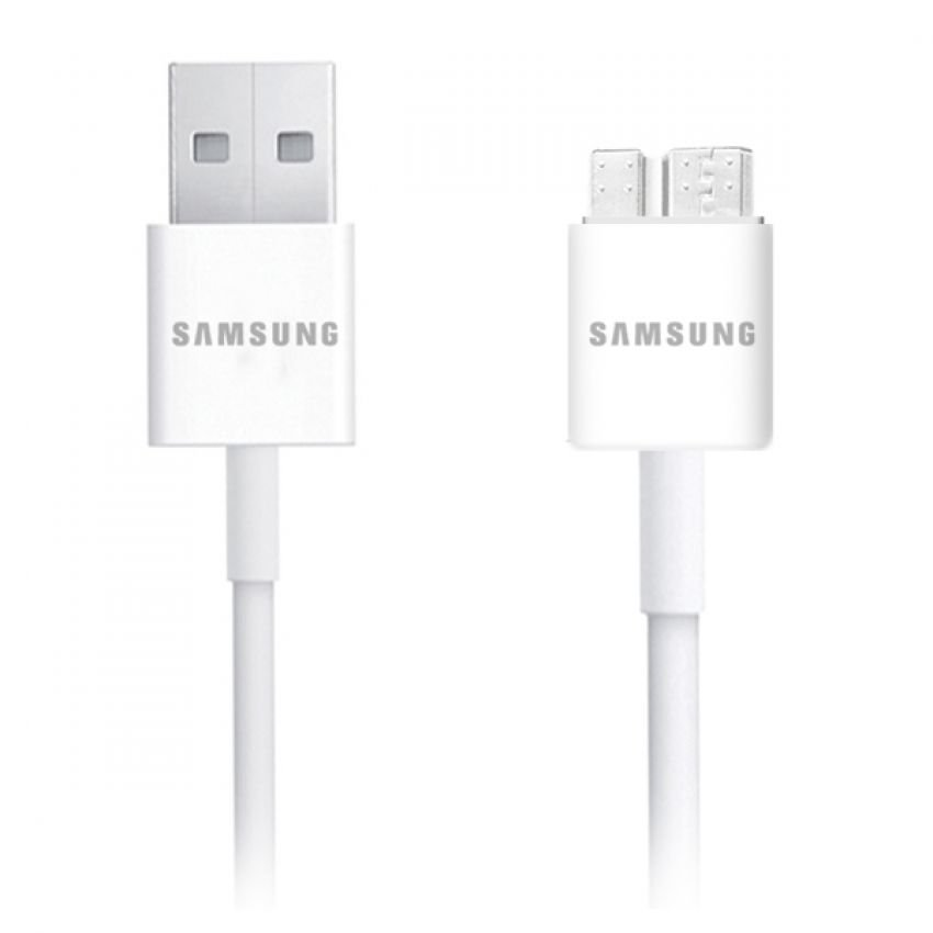 Samsung Original Data Cable Micro USB 3.0 Galaxy Note 3 & Galaxy S5 - Putih