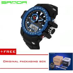 SANDA 2016 New Fashion Brand Digital-watch G Style Outdoor Sports Shock Military Digital Watch Men Quart Wrist Watches For Men 399 (Blue) [Buy 1 Get 1 Freebie]