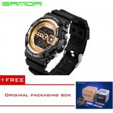 SANDA LED Digital Watch Men Watches 2016 Top Brand Luxury Famous Male Clock Military Watch Sport Digital-watch Relogio Masculino320 (Yellow) [Buy 1 Get 1 Freebie]