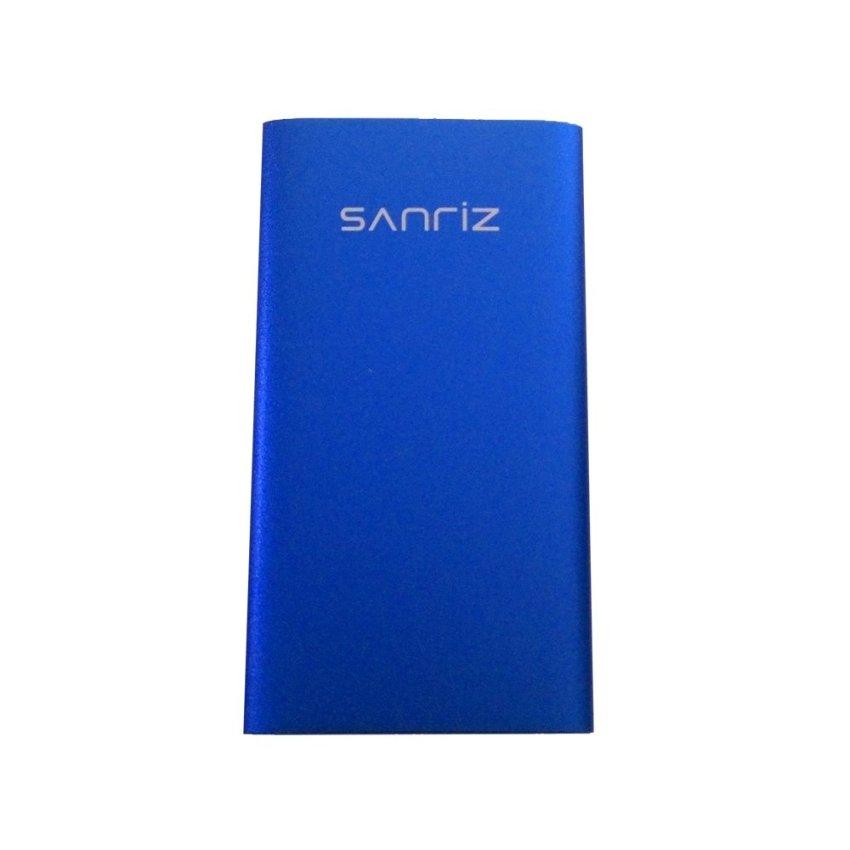 Sanriz Power Bank Slim Stainless Body 5000mAh - Biru
