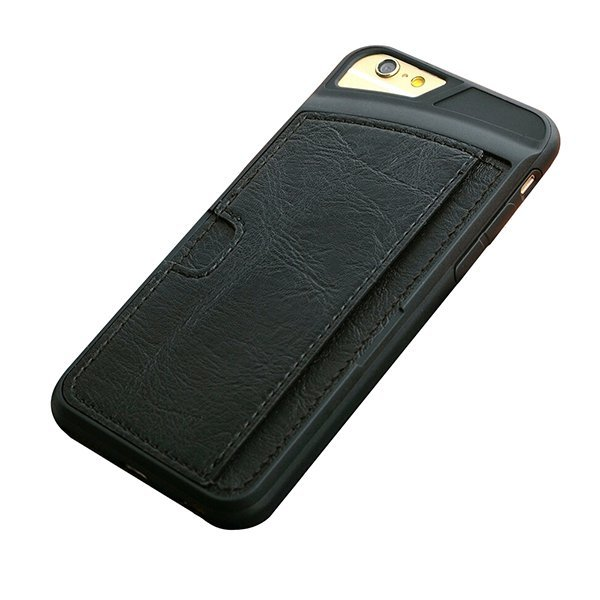 Sanwood Synthetic Leather Wallet Case for iPhone 4/4s (Black)