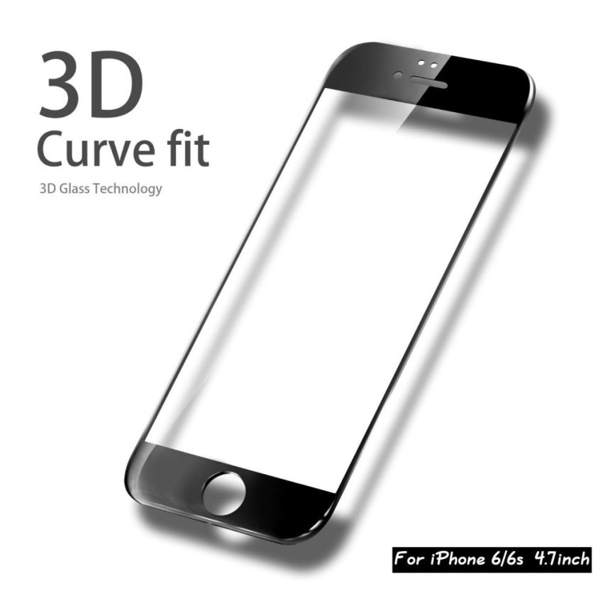 Screen Protector for Iphone 6/ 6s (Clear/ Black) (Intl)