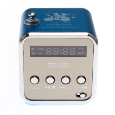 SD TF USB MP3 Music Player Portable Rechargeable PC MP3 FM Mini Speaker - Intl