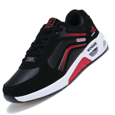 Seanut Men's Fashion Breathable Casual Shoes Sports Shoes (Black / Red)