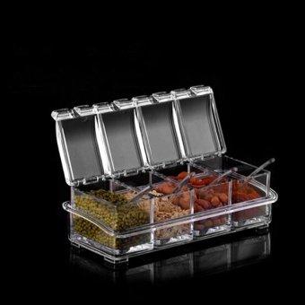 Seasoning set kitchen condiment box 4piece set intl for Kitchen set lampung
