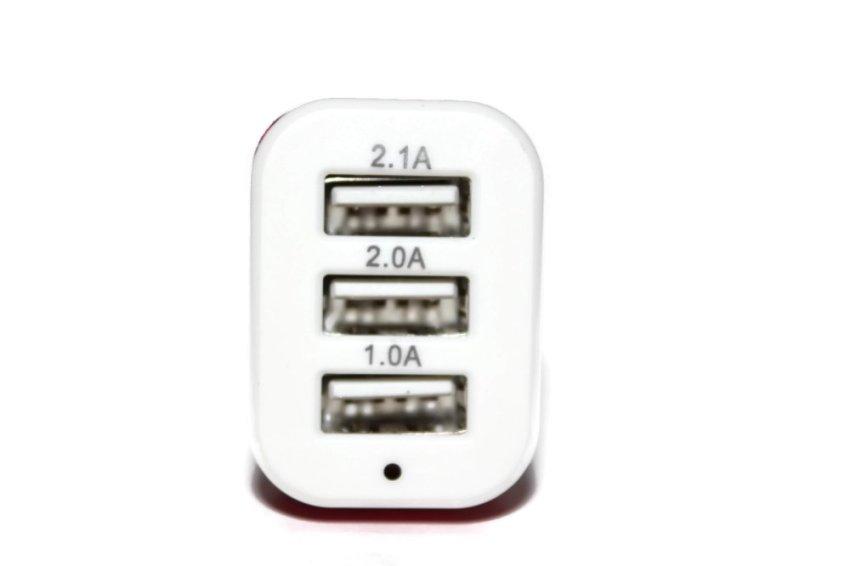 Seniora's USB Port Car Charger 3 in 1- Merah