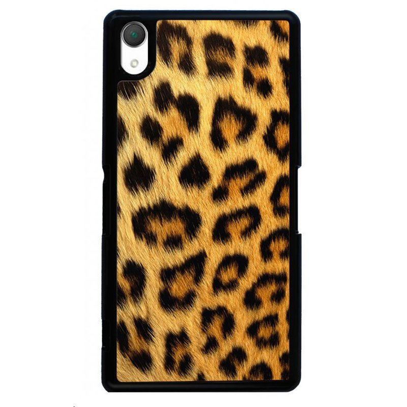 Sexy Leopard Printed Phone Case for SONY Xperia Z3 (Black)