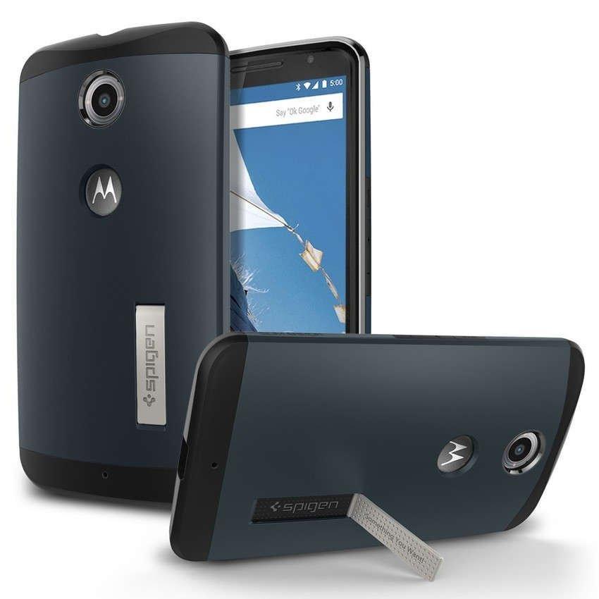 SGP Slim Armor Case untuk Nexus 6 - Biru Tua
