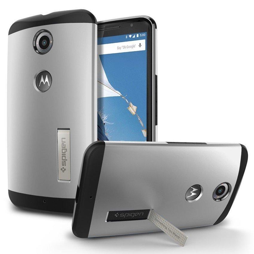 SGP Slim Armor Case untuk Nexus 6 - Silver