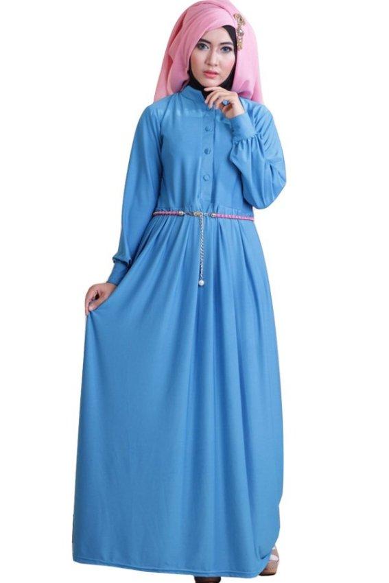 Lihat Barang Sejenis Ofashion Pakaian Muslim AX-5051 Gamis Dokalyn Bubble Gaun Lebaran Muslimah -