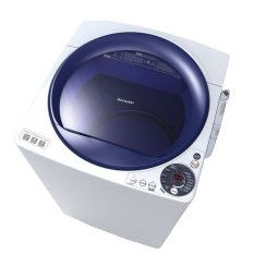 SHARP Mesin Cuci Top Loading 8 Kg - ES-M805P-WB - Biru - Khusus Jabodetabek