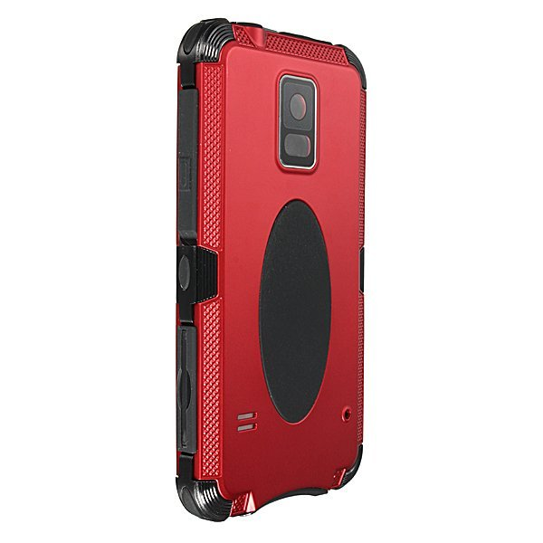 Shockproof Aluminum Metal Gorilla Glass Case for Samsung Galaxy S5 Red