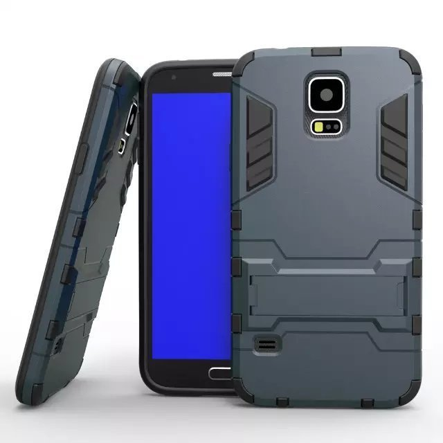 Shockproof Case with Stand for Samsung Galaxy S5 (Black) (Intl)