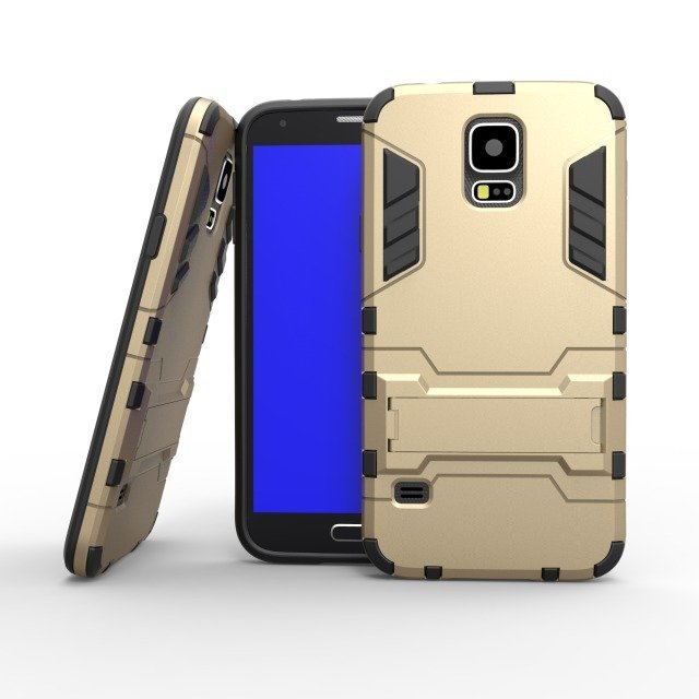 Shockproof Case with Stand for Samsung Galaxy S5 (Gold) (Intl)