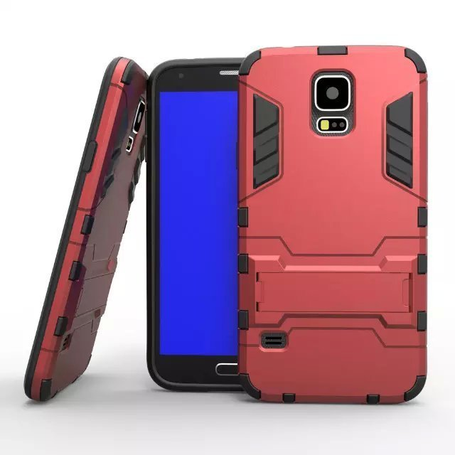 Shockproof Case with Stand for Samsung Galaxy S5 (Red) (Intl)