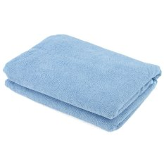 Shower Bath Terry Bow Women Body Spa Bath Towel Wrap New Blue (Intl)
