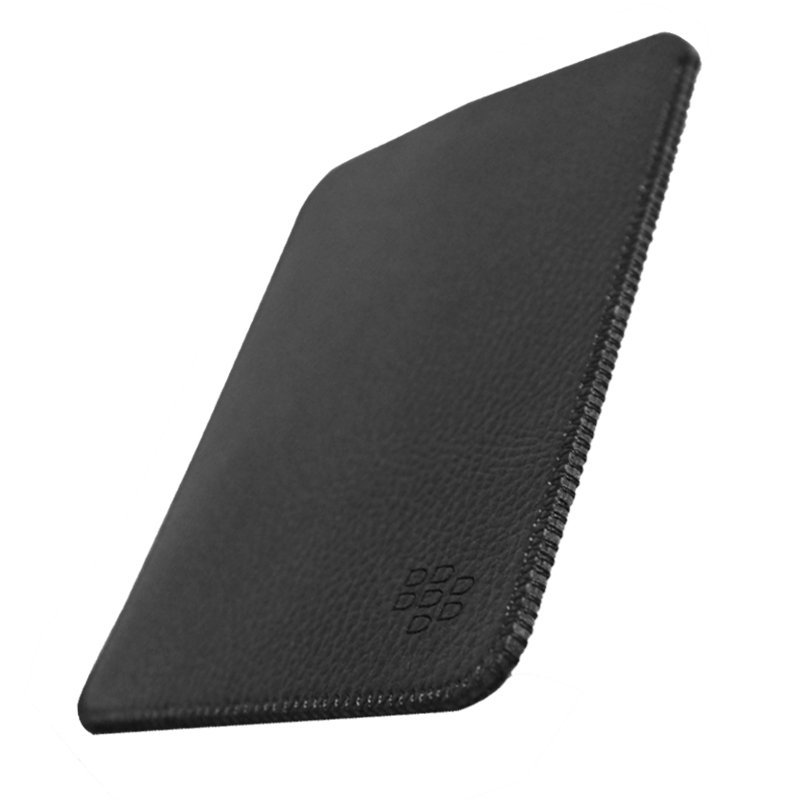 Sikai Genuine Leather Pouch untuk Blackberry Passport - Hitam