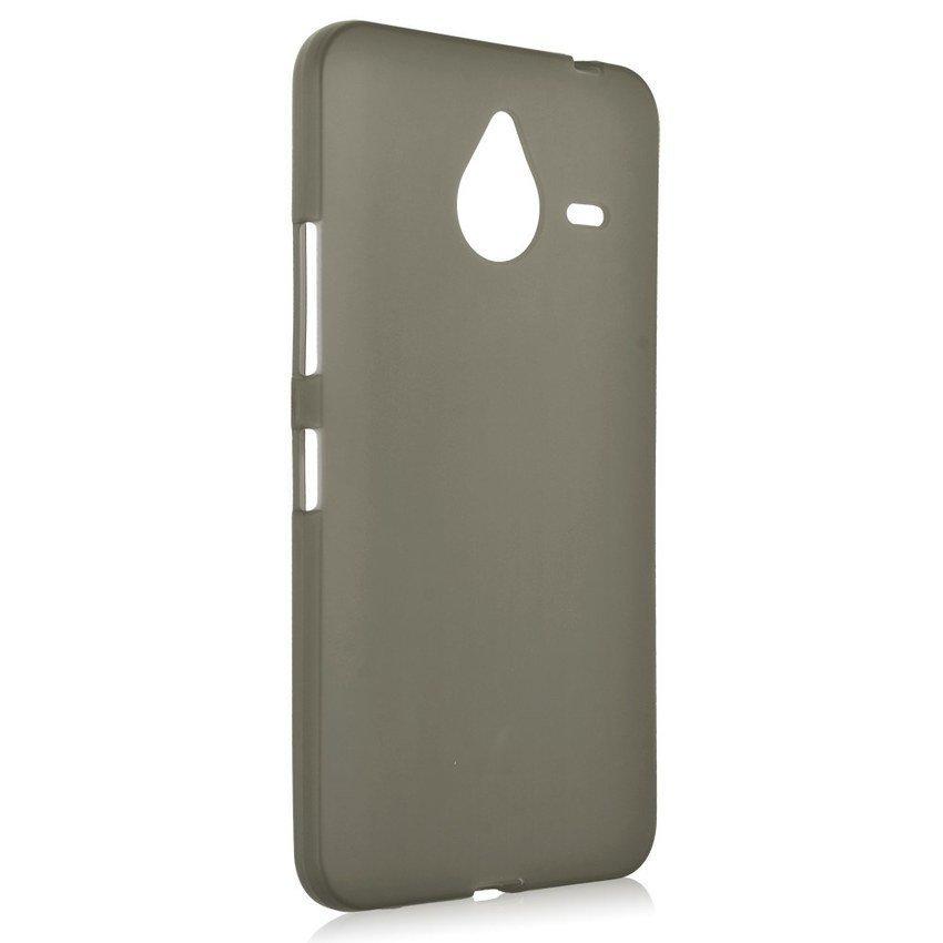 Silicone Back Case Cover Skin for Microsoft Nokia Lumia 640 XL - Abu-Abu