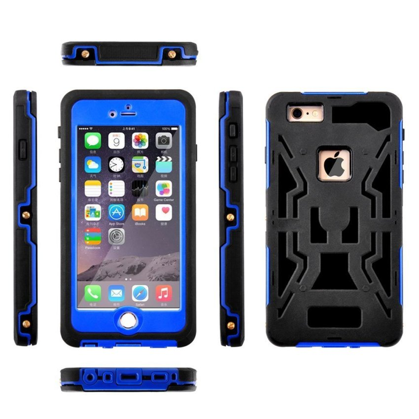 Silicone Gel + PC Waterproof/Shockproof Case for iPhone 6/6s (Blue) (Intl)