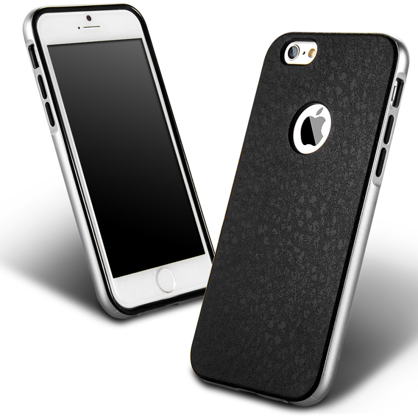 Silicone Metal Frame + Hard PC Hybrid Armor Slim Logo Case for iPhone 5 5S 5G Silver (Intl)