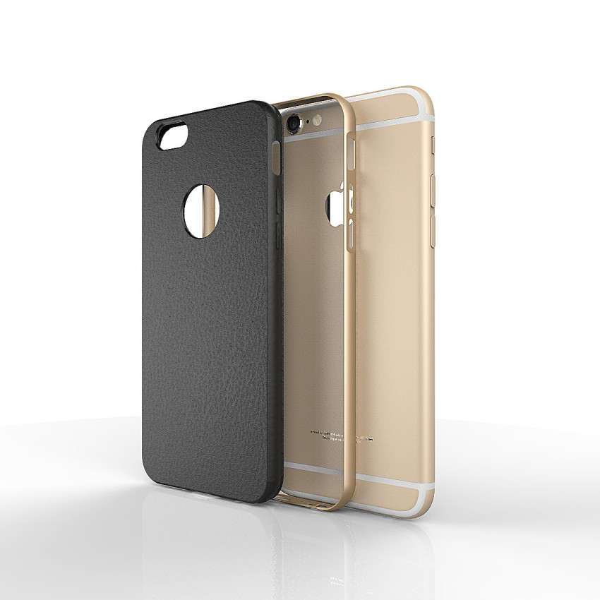 Silicone Metal Frame + Hard PC Hybrid Armor Slim Logo Case for iPhone 6 Plus Gold (Intl)