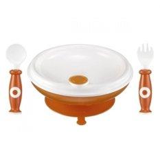 Simba Warming Plate & Spoon Set - Orange