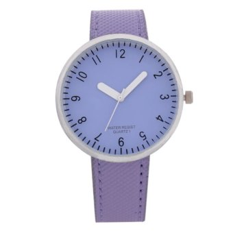 Simple Digital Watches Purple Glass Plate