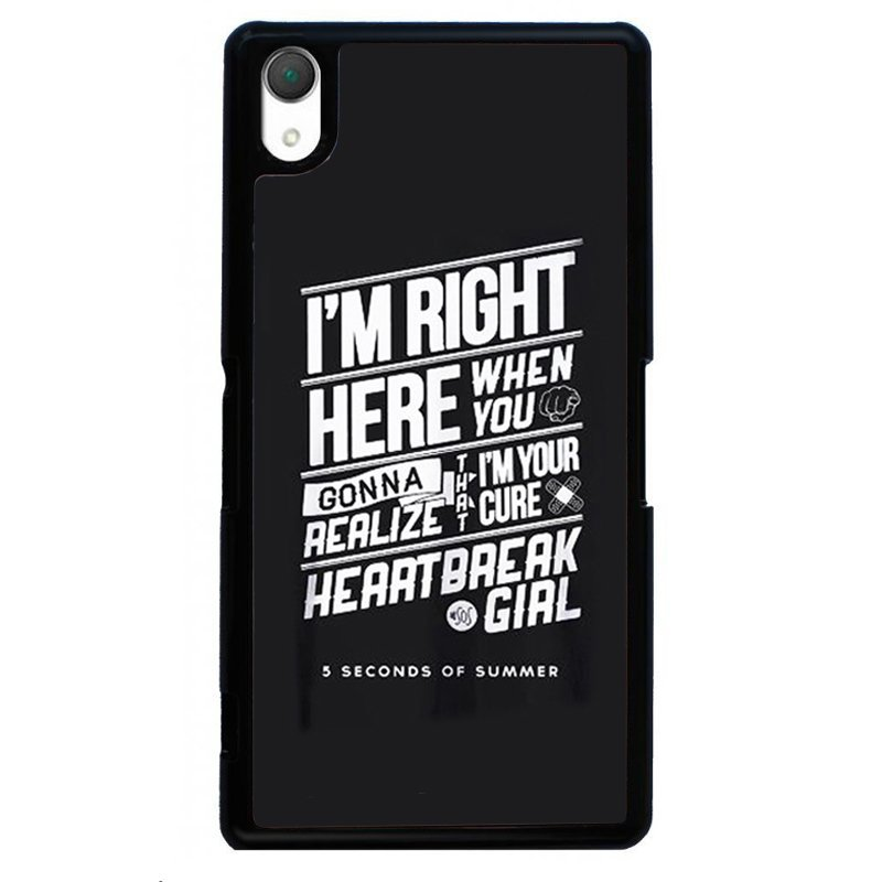 Simple Letters Painting Phone Case for SONY Xperia Z3 (Black)