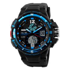 SimpleHome Skmei 1148 Men's Fashion Casual Outdoor Big Dial Waterproof Sports Watch Blue - Intl