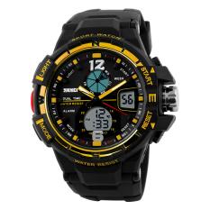 SimpleHome Skmei 1148 Men's Fashion Casual Outdoor Big Dial Waterproof Sports Watch Gold - Intl