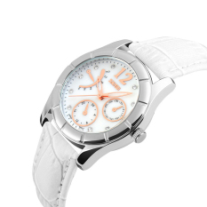 SimpleHome Skmei 6911 Ms. Korean Version Of The Exquisite Leather Belt Quartz Watch White (New) White - Intl