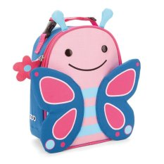 Skip Hop Zoo Lunchies Bag Butterfly - Biru-Pink