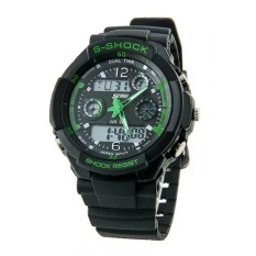 Skmei 0931 Unisex Green Sport Stylish LED Diving Watch Water Resistant 50M Similar Japan Style