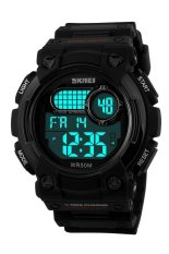 Skmei 1054 Digital Watch Shock Militer Sport Watch Water Resistant 50m - Hitam