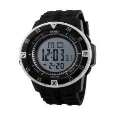 Skmei 1089 Men Wristwatch Sport LED Digital Waterproof Men's Watches White