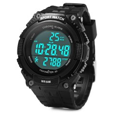 Skmei 1112 Multifunctional 3D Pedometer Male Wristwatch With PU Band (BLACK) (Intl)