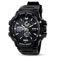 SKMEI 2016 Fashion Casual Children Sports Watch LED Digital Quartz Waterproof Multifunction Kids Watches Children's Wristwatches (Black)