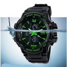 SKMEI 2016 Fashion Casual Children Sports Watch LED Digital Quartz Waterproof Multifunction Kids Watches Children's Wristwatches (Green)