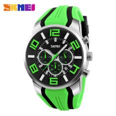 SKMEI 2016 New Quartz Analog Sport Watch Fashion Casual Stop Watch Date Waterproof Watches (Green)