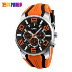 SKMEI 2016 New Quartz Analog Sport Watch Fashion Casual Stop Watch Date Waterproof Watches (Orange)