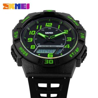 SKMEI Casio Men Sport LED Watch Water Resistant 50m - AD1065 - (Green)