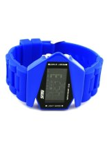 SKMEI Cool Airplane Shaped Men's Waterproof LED Digital Sports Watch With Date / Alarm / Stopwatch / Package Box Blue