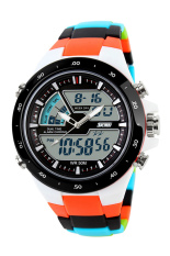 SKMEI Double Time Zone Digital Quartz LED Waterproof Watches Camo