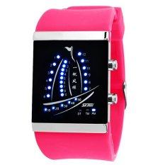 Skmei Electronic Jelly 30m Waterproof Digital Lovers Watch (Hot Pink) 1001