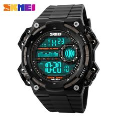 SKMEI S-Shock Militer Sport Watch Water Resistant 50m - DG1115 - Black / Titanium