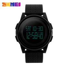 SKMEI Sport Watch Men / Women LED Electronic Watch Waterproof Outdoor Sport Watches Fashion Student Wristwatches (Black)