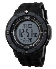 SKMEI Sports Men's OLA-SK1089A Multifunctional Waterproof Digital Display Watch Black - Intl