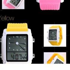 SKMEI Unisex Loves Sport Waterproof Rubber Strap Wrist Watch - Yellow 0841
