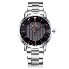 SKONE Men's Sports Watch Authentic Fashion Men's Watch Band Space-Silver Black Gold (Intl)